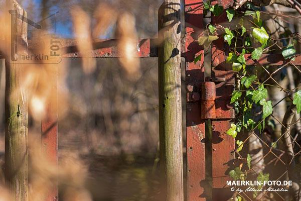 verwitterter, rostiger Zaun, am Schlossberg in Nagold