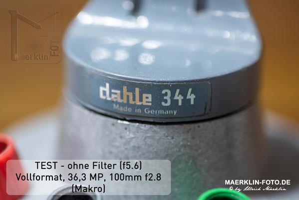 Filtertest, Referenzbild ohne Filter