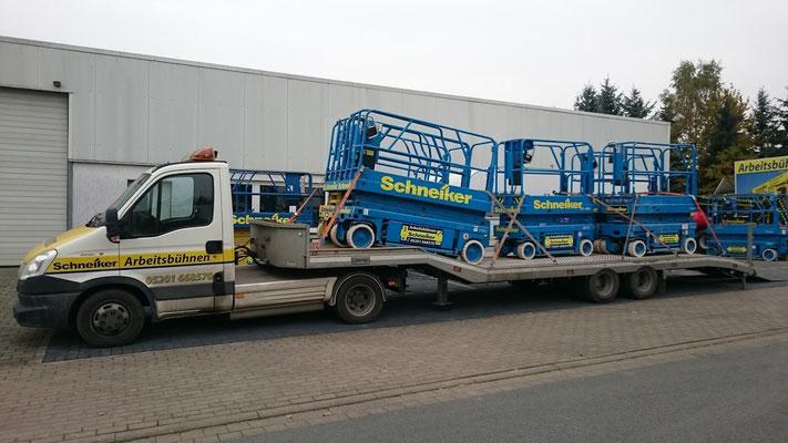 Schneiker Hubarbeitsbühnen mieten für Einsatz in Borgholzhausen