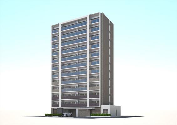 建築パース 外観 マンション CGパース