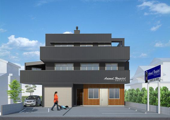 建築パース・動物病院・CGパース