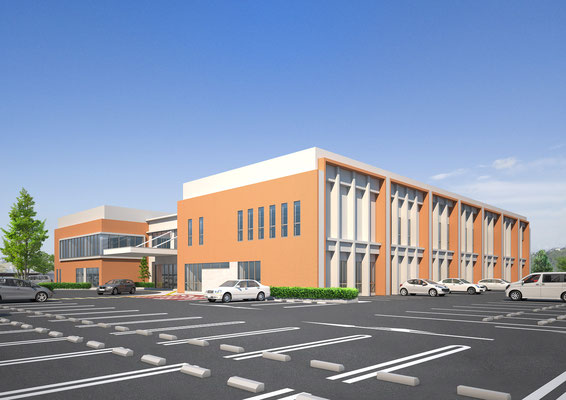 建築パース 外観 公共施設 CGパース
