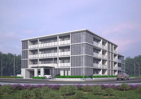 建築パース・外観パース・老健施設・CGパース