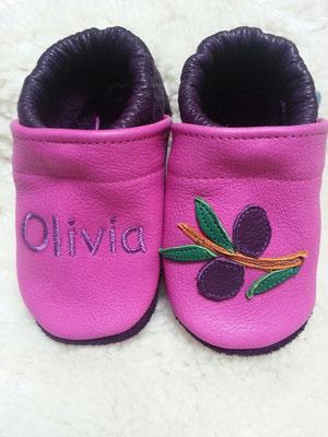 pink/lavandula mit Olivenzweig und Name