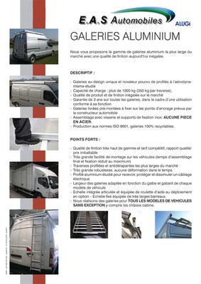 Descriptif galerie aluminium