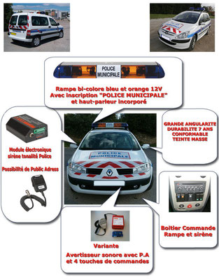 Véhicules prioritaires police / équipement type