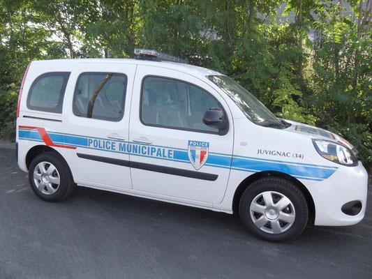 Sérigraphie police municipale Eas Automobiles