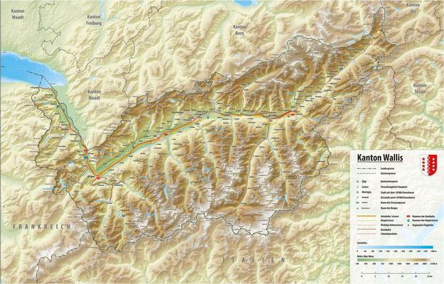 Karte Wallis cc by sa Tschubby und div. Autoren Stalden bei Zermatt und Saas-Fee Klick