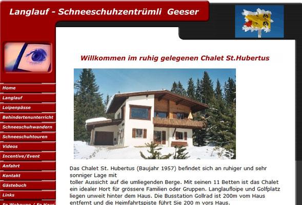 Geeser Chalet mieten Arosa