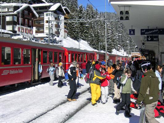 Skifahren mit Zug - Ihr Skibiet hier?