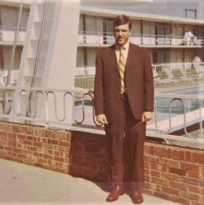 A picture taken during Lester's first road trip in October 1969.