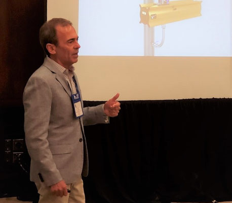 A.J. DeCenso presents to attendees of the Operations & Engineering session