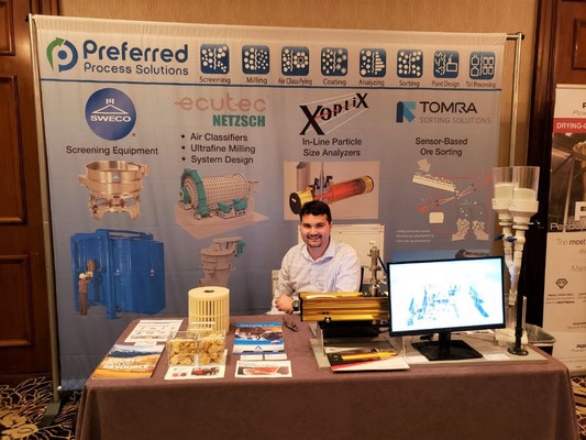 Blake Walker staffs the Preferred Process Solutions booth.