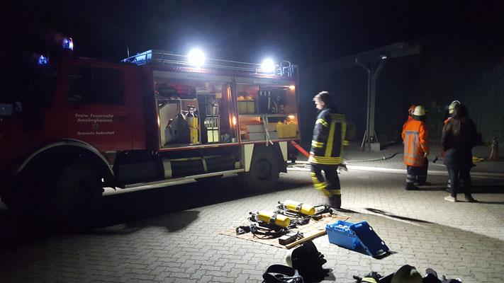 Monatsdienst mit Atemschutzgeräteträgern, Okt 2018, TLF