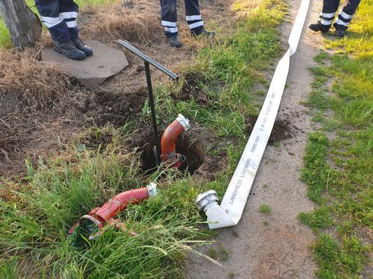 Wasserversorgung über Feldberegnungsanlage