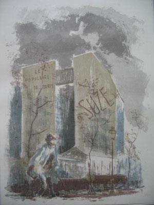 1.- Vagabundo, Litografía, mancha 43 x 33,5 cm., soporte 43 x 33,5 cm.