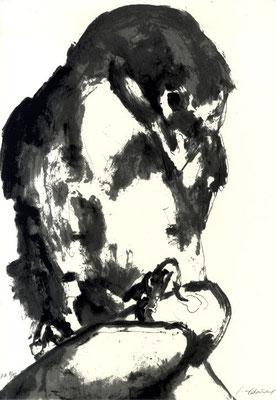 15.- Frankenstein,  Serigrafía de  43 x 31 cms.