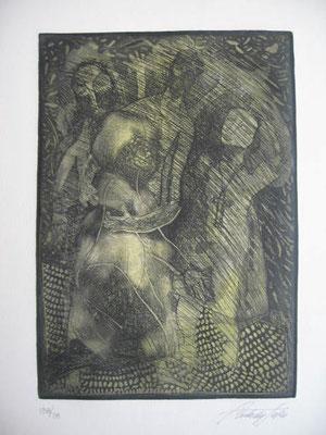 10.- La Princesa Micomicona (Carlos Del Toro), Aguafuerte, aguatinta, mancha 27,50 x 19,50 cm., soporte 37,50 x 28 cm.