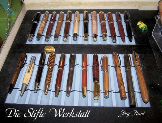 Aus verschiedenen Holzsorten  entstehen einzigartige und individuelle Stifte