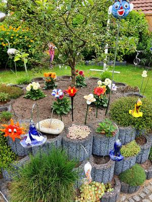 Der bunte Garten wurde sehr bewundert