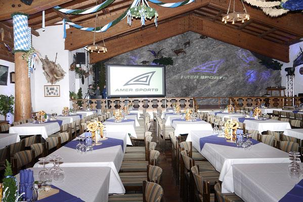 Tagung, Firmenevent, Jubiläumsfeier in der Bayernhalle in Garmisch-Partenkirchen