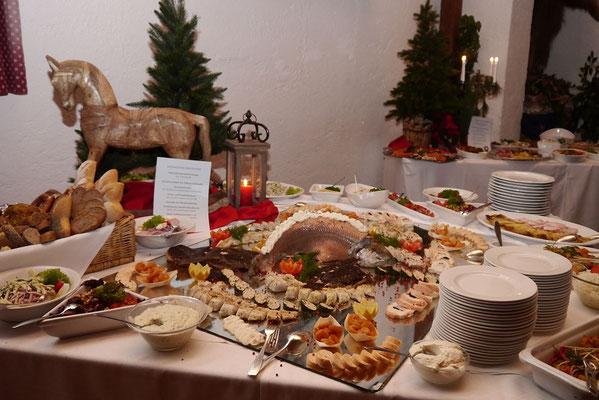 Catering, Buffet in der Bayernhalle in Garmisch-Partenkirchen