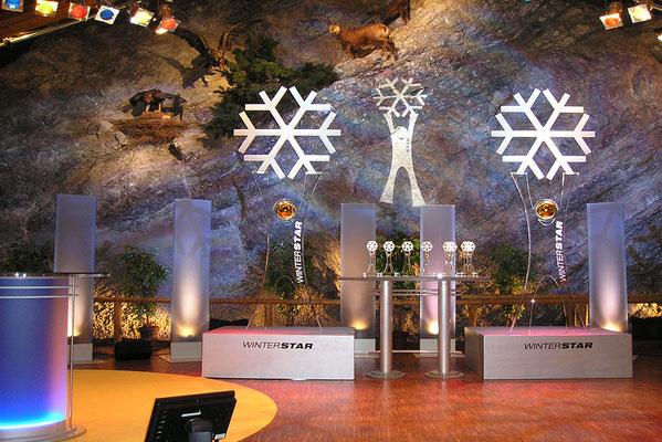 TV-Aufnahmen in der Bayernhalle in Garmisch-Partenkirchen