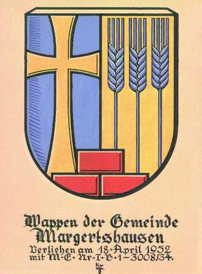 Foto vom Original  (Wappenentwurf: u.a. Hindermayr Albert sen.)