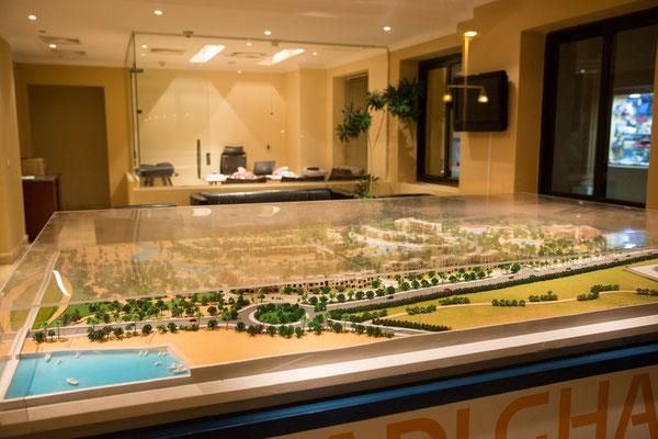 Auch das Verkaufsbüro für Luxuswohnungen in Port Ghalib ist verwaist