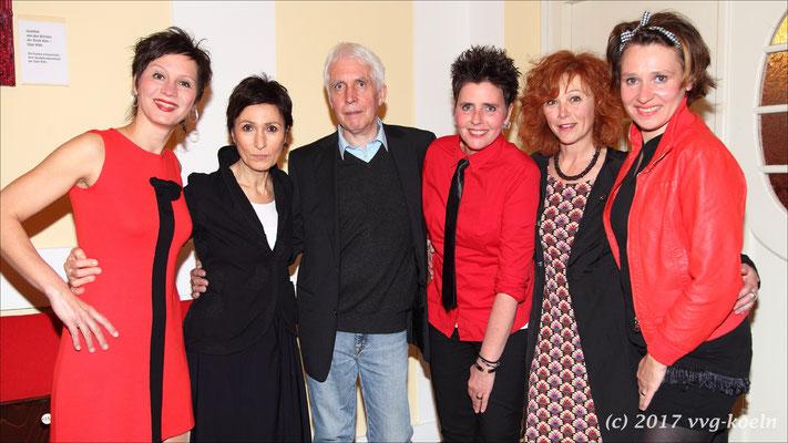 Das Trio 'Abends mit Beleuchtung' mit Renan Demirkan, Prof. Beuth und Heike Trinker