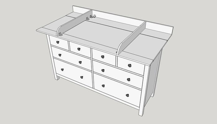 diy wickelaufsatz f r ikea hemnes. Black Bedroom Furniture Sets. Home Design Ideas
