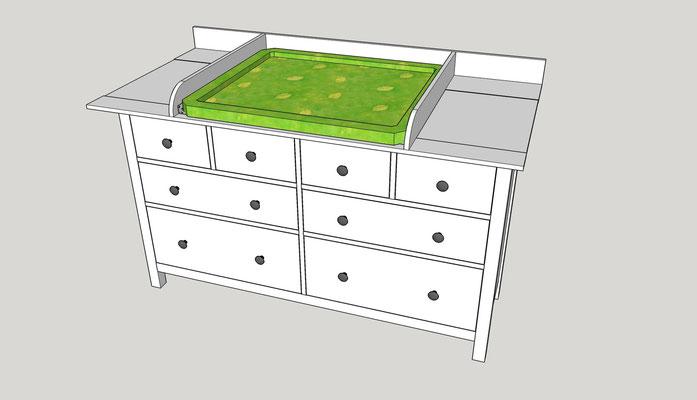 Wickelaufsatz für Ikea Hemnes Komode - DIY