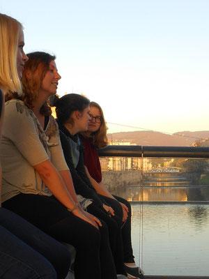 Auf einer Brücke über der Miljacka (Sarajevo)