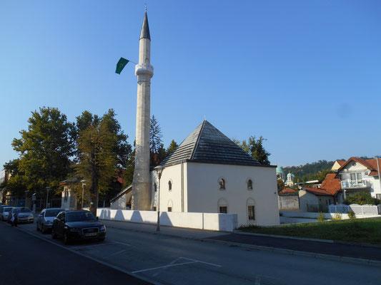 Eine kleine Moschee um die Ecke des Telex