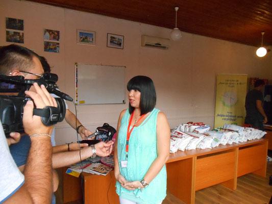 Meine Kollegin Dzenana im Interview (Telex)