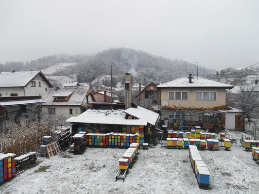 Der erste Schnee in Simin Han!