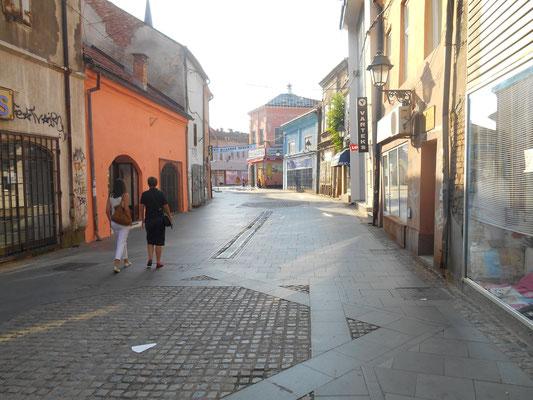 Die (fast) leergefegte Innenstadt von Tuzla