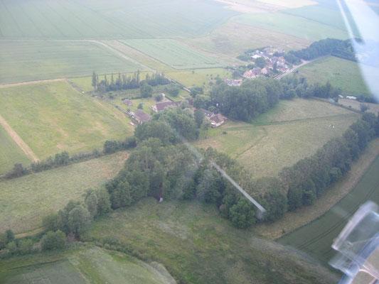 le moulin de Blanville vu du ciel