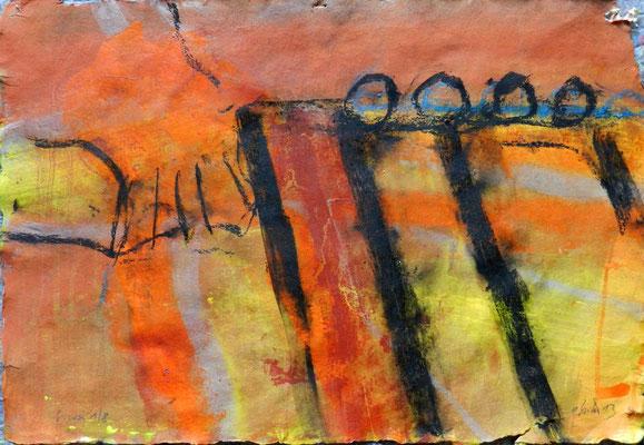 sinai 1, #8, 2013,  mm on paper, 38x55 cm