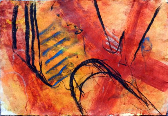 sinai 2, #4, 2013, mm on paper, 38x55 cm
