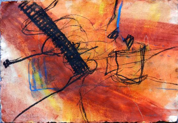 sinai 2, #2, 2013, mm on paper, 38x55 cm