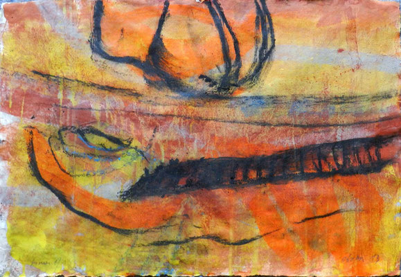 sinai 1, #1, 2013,  mm on paper, 38x55 cm