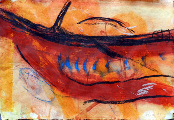 sinai 2, #6, 2013, mm on paper, 38x55 cm