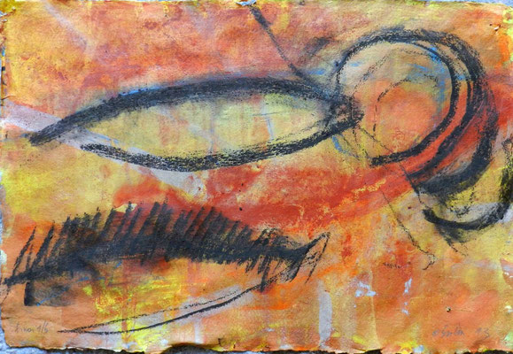 sinai 1, #6, 2013,  mm on paper, 38x55 cm