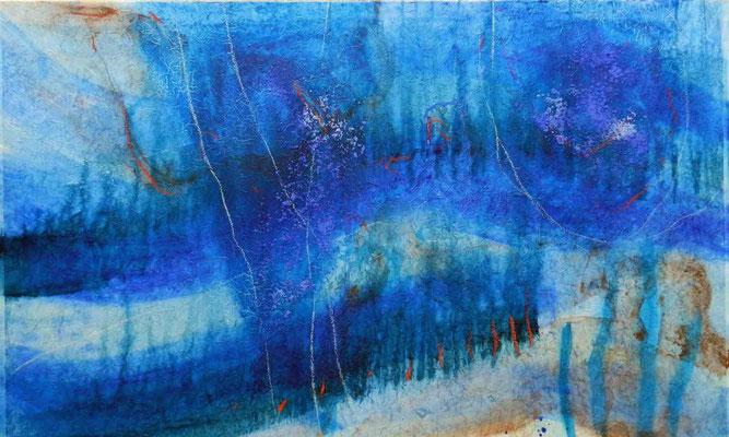 im wasser1,mm on paper on canvas, 2012, 100x60