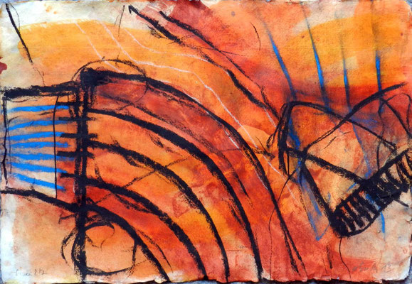 sinai 2, #7, 2013, mm on paper, 38x55 cm