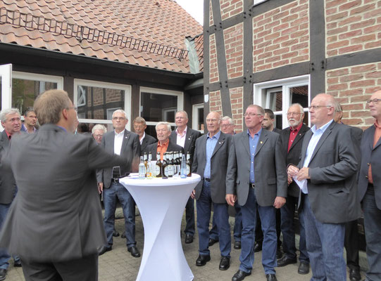 Musikalischer Beitrag des MGV Herzfeld-Hovestadt
