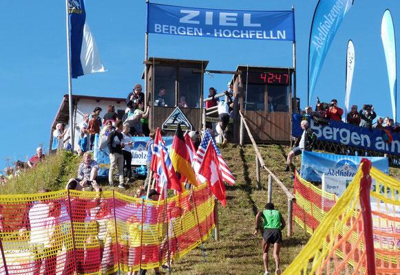 Ziel Hochfellnberglauf 2016