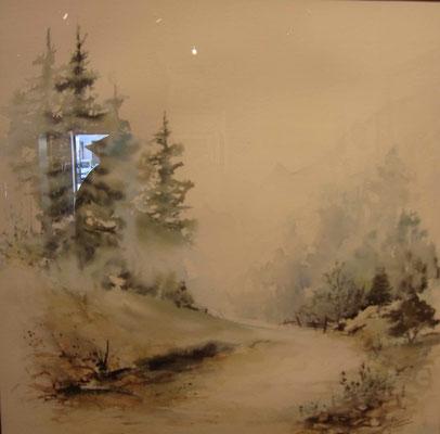 Deuxième Prix encre, aquarelle, pastel etc