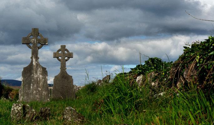 Klosterfriedhof in Ballinskelligs.